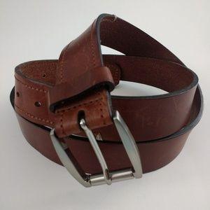 Trafalgar Brown Leather Belt, Size 42